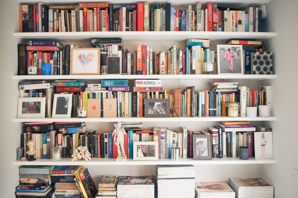 Sarah Clark's bookshelves - The Frugality