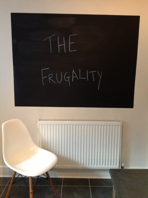 Do It Yourself Chalk Board - The Frugality