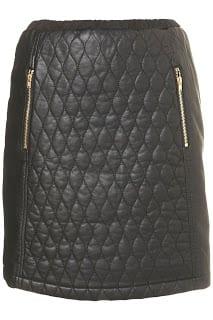 Affordable Black leather skirt
