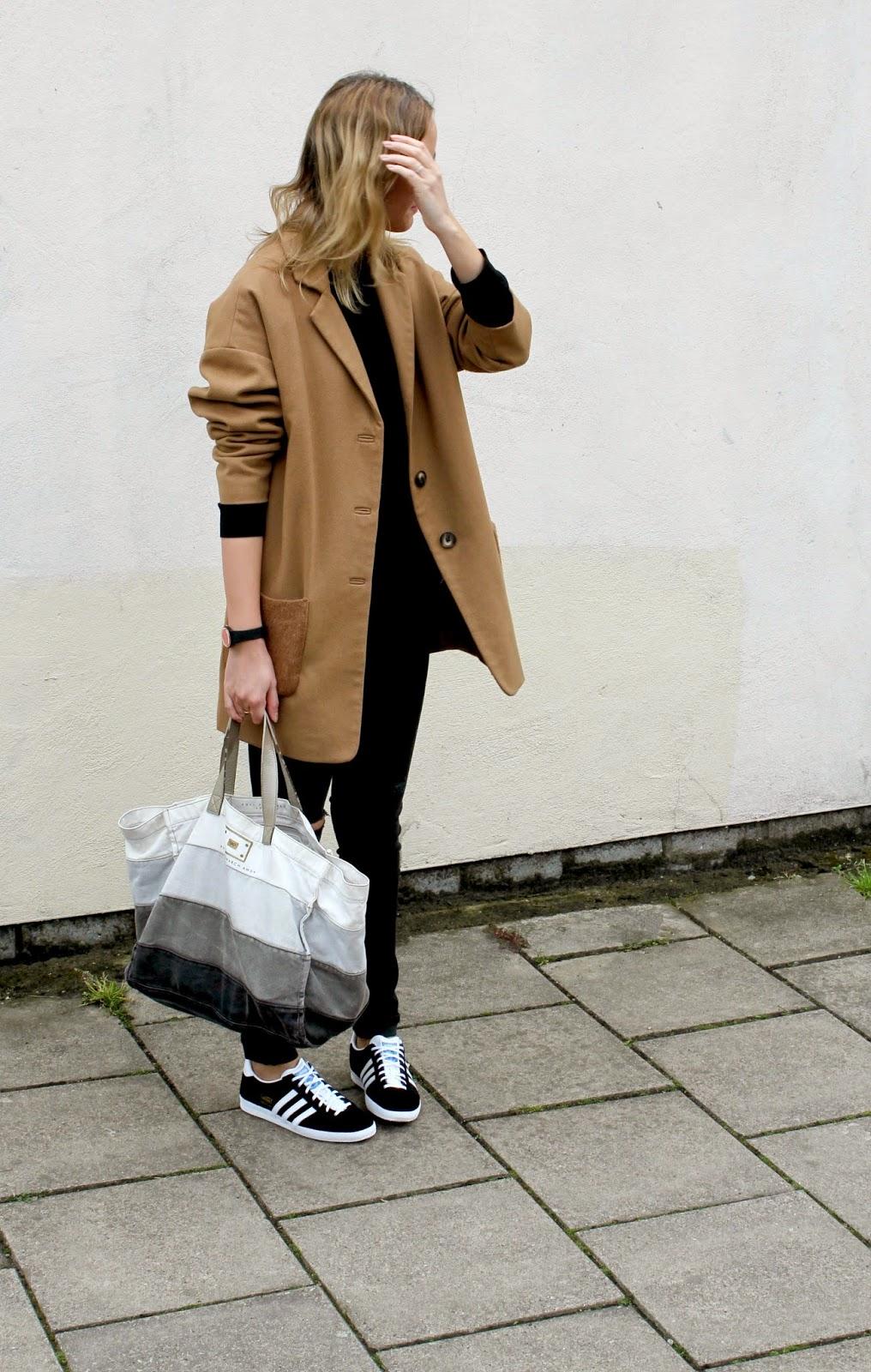Outfit Post: Black denim and Gazelles