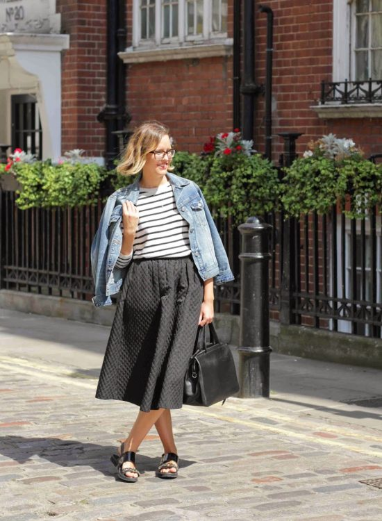 The Red Team do midi skirts