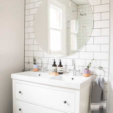 White Bathroom inspiration The frugality