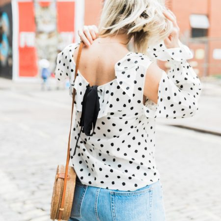 Join the dots: polka dot blouse