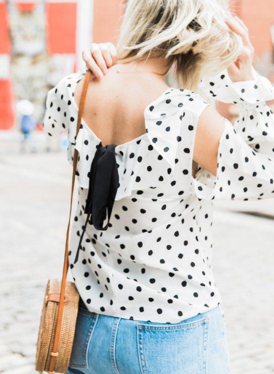 Join the dots: polka dot blouse
