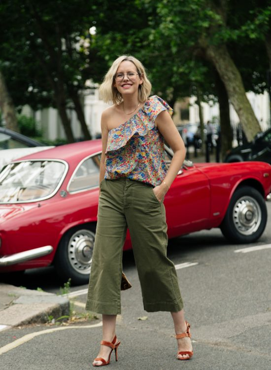 Three ways to wear: barrel leg trousers