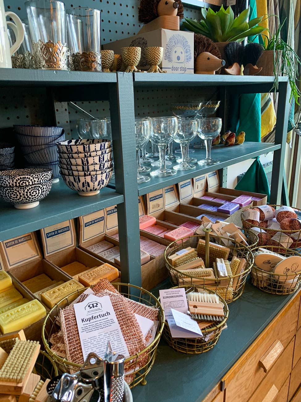The selection of handmade soaps on offer at The Hoxton Store in Deal, Kent.