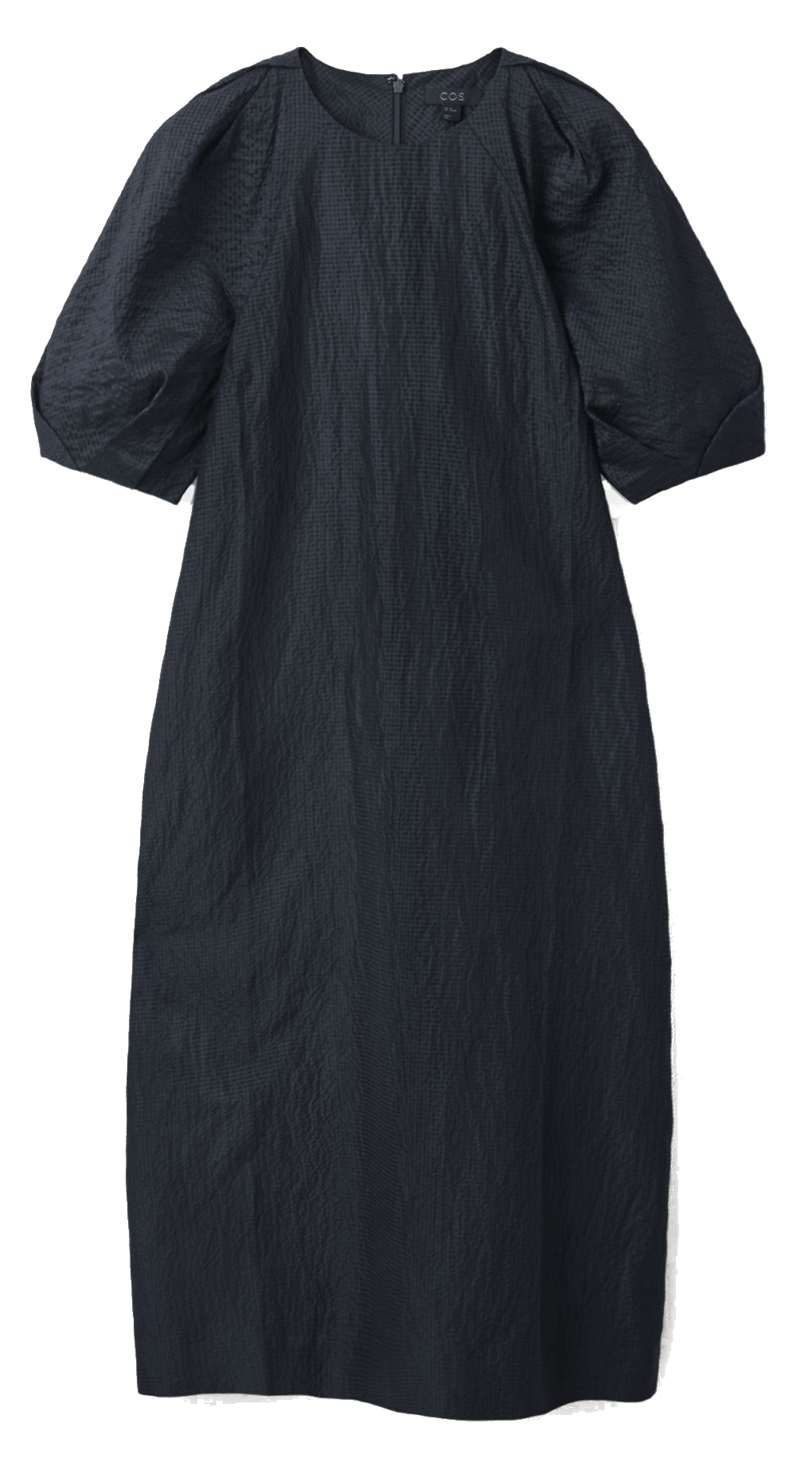 Black linen and silk dress from Cos.