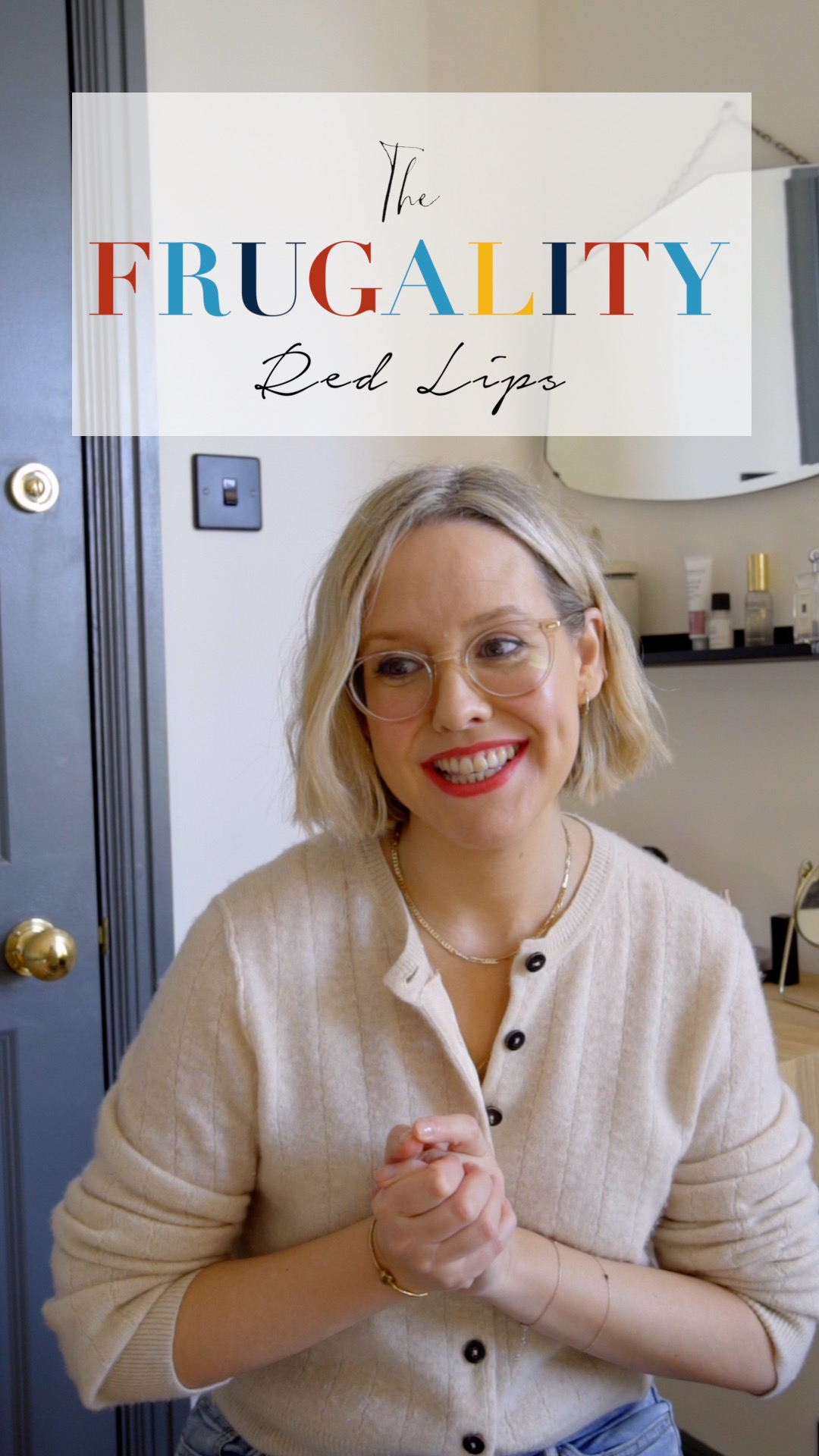 A thumbnail from The Frugality's Red Lip IGTV.