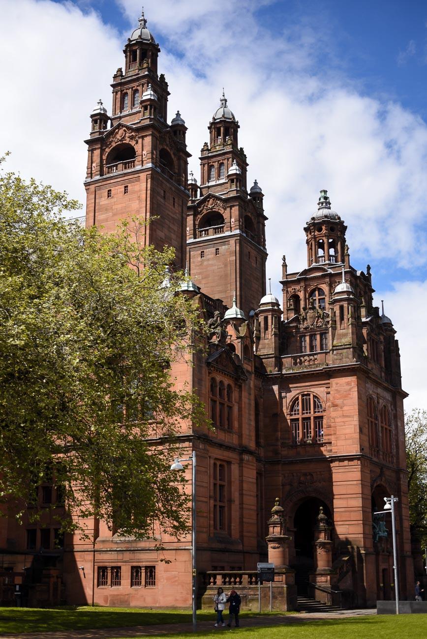 Kelvingrove art gallery in Glasgow.