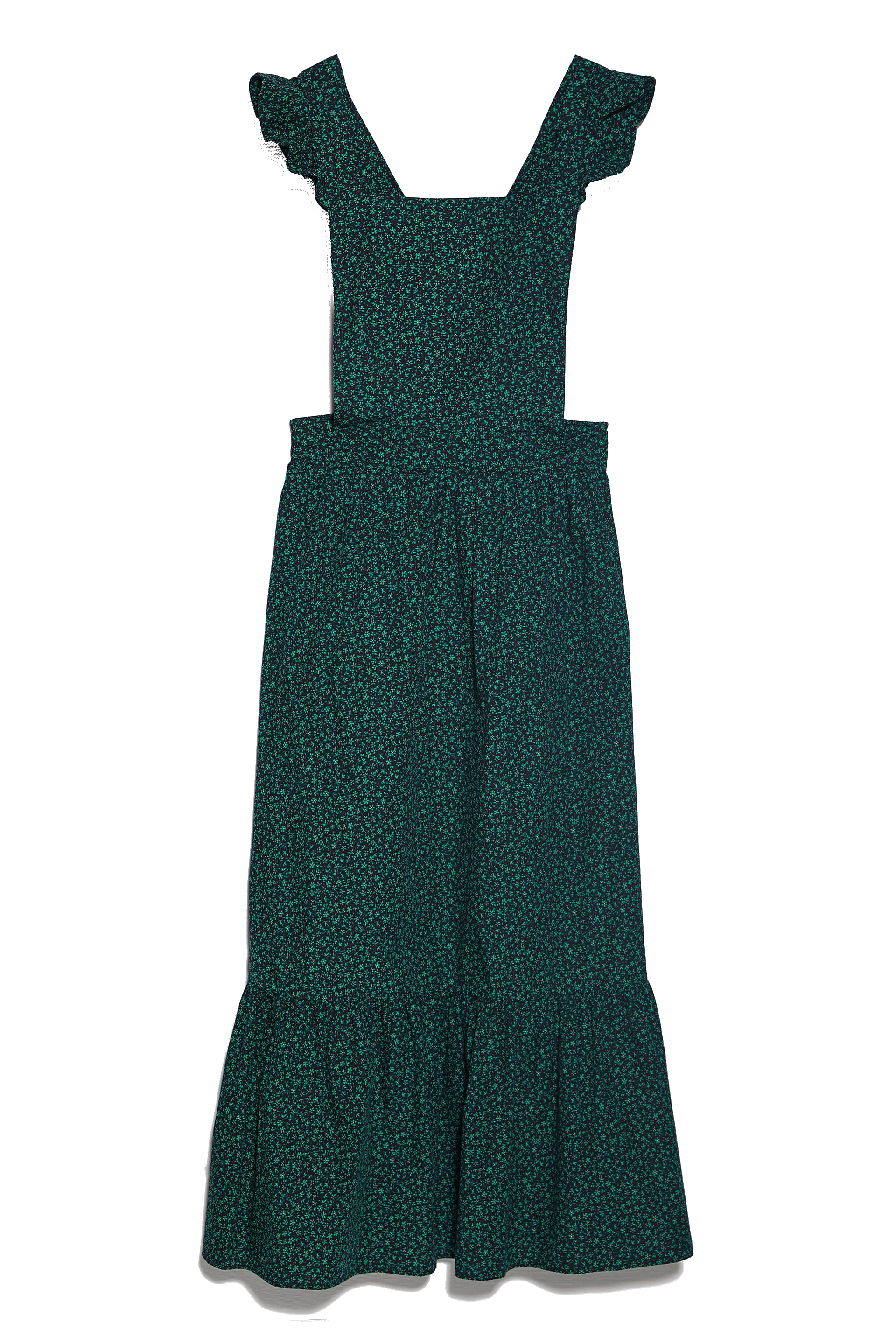 Green star print dress from Zara.