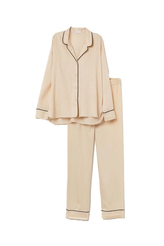 H&M lyocell cream pyjamas.
