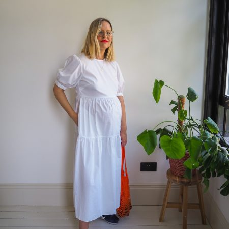 The Frugality white maternity dress