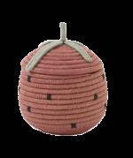 Strawberry Lidded Woven Basket